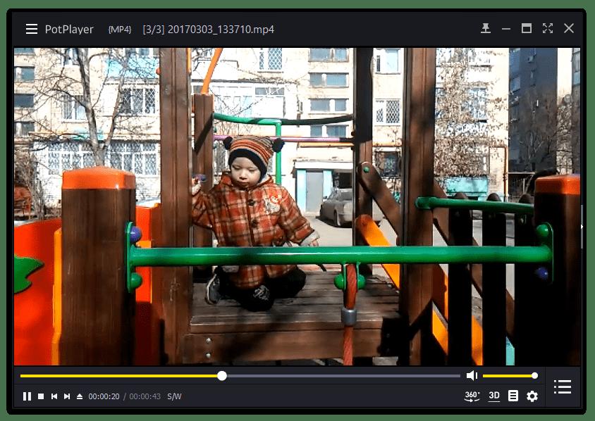 Воспроизведение видео в программе PotPlayer